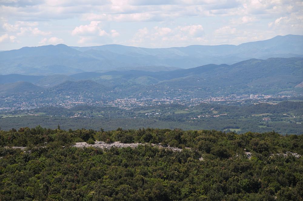 Mont Bouquet Vue sur Alès